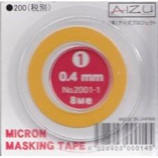 AIZ-2001-1 Micron Model Masking Tape - 0.4mm
