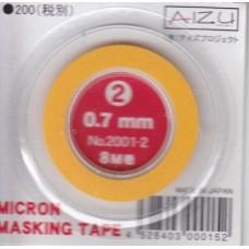 AIZ-2001-2 Micron Model Masking Tape - 0.7mm