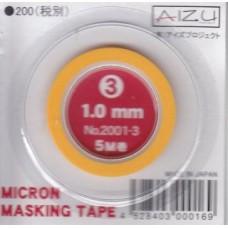 AIZ-2001-3 Micron Model Masking Tape - 1.0mm