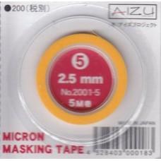 AIZ-2001-5 Micron Model Masking Tape - 2.5mm