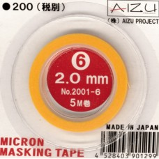 AIZ-2001-6 Micron Model Masking Tape - 2.0mm