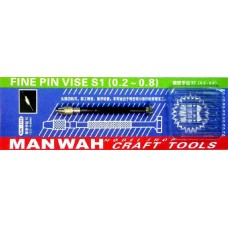 MW-2132 Fine Pin Vise S1 with 6 Drill Bits (0.2-0.8mm)
