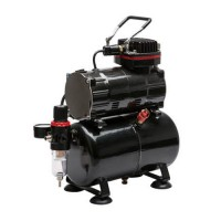 TC-80T Airbrush Compressor with Air Tank, Regulator and Moisture Trap