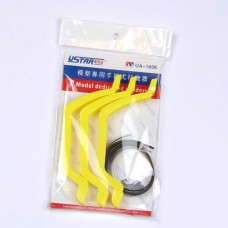 UA-1606  Bow Shape Holders with Abrasive Paper Belts 3 pieces